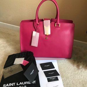 2d49f7555a6b Authentic Saint Laurent Cabas Y satchel